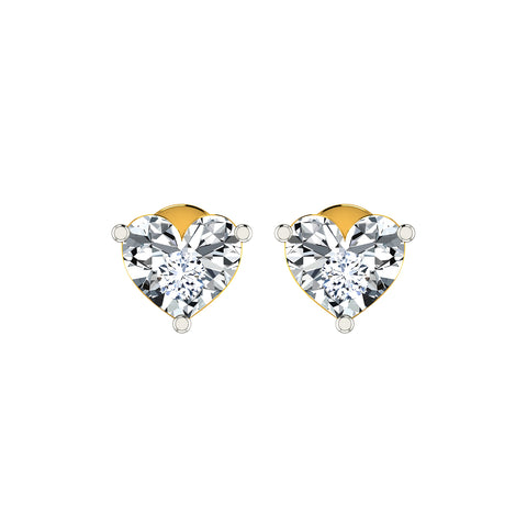 Image of DIAASHI Diamond Heart Miracle Earrings