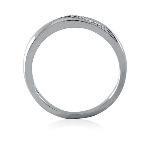 Diamond Accent Slant Eternity Band