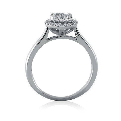 Image of Diamond Cluster Frame Engagement Ring
