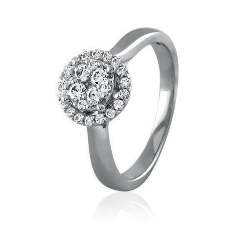 Diamond Cluster Frame Engagement Ring