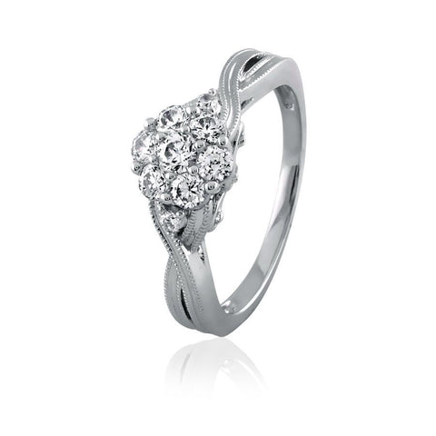 Image of Diamond Flower Cluster Ring
