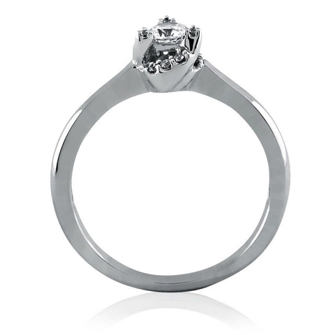 Image of Diamond Frame Solitaire Ring