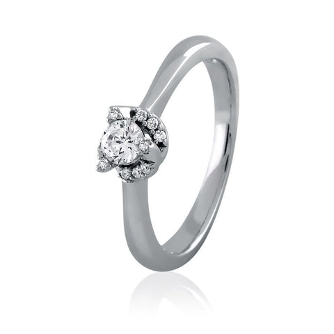 Diamond Frame Solitaire Ring