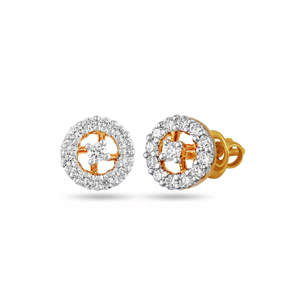 Diamond Halo Ear studs