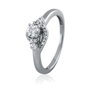 Diamond Wrap Engagement Ring