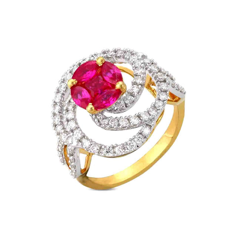 Image of Divine Rose Diamond Cocktail Ring