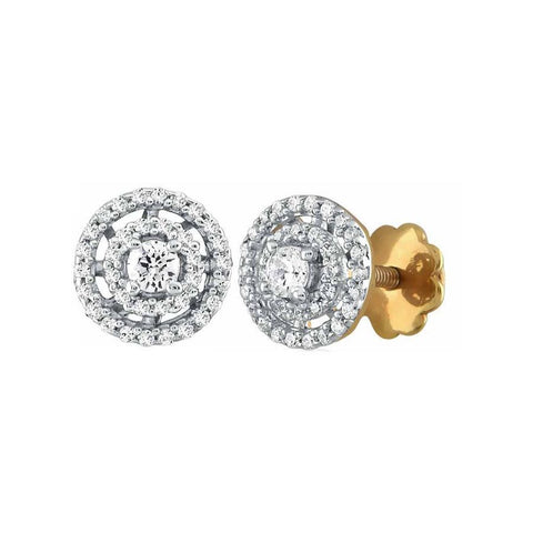Image of Double Halo Solitaire Studs
