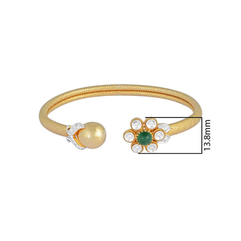 Image of Emerald And Gold Twister Bracelet