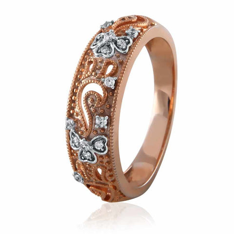 Ethnic Vintage Style Diamond Band