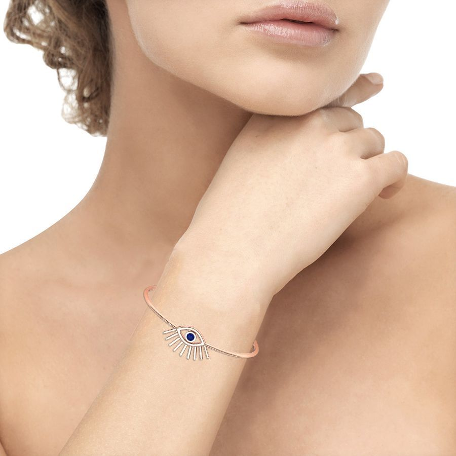 Evil Eye Bracelet With Blue Topaz
