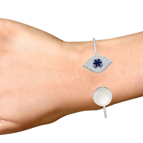 Evil Eye Bracelet with Pearl