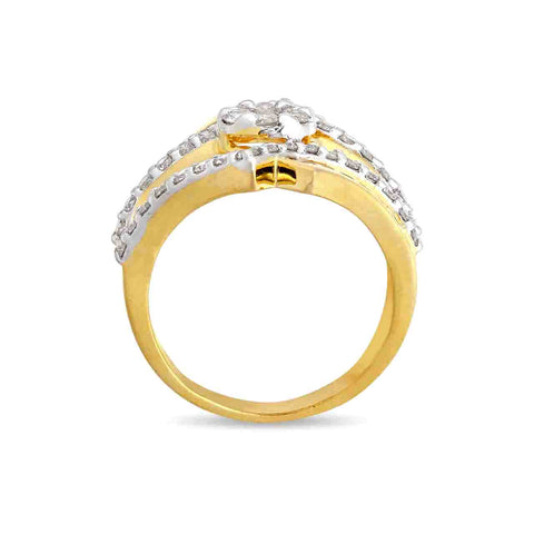 Image of Grand CrissCross Cocktail Ring