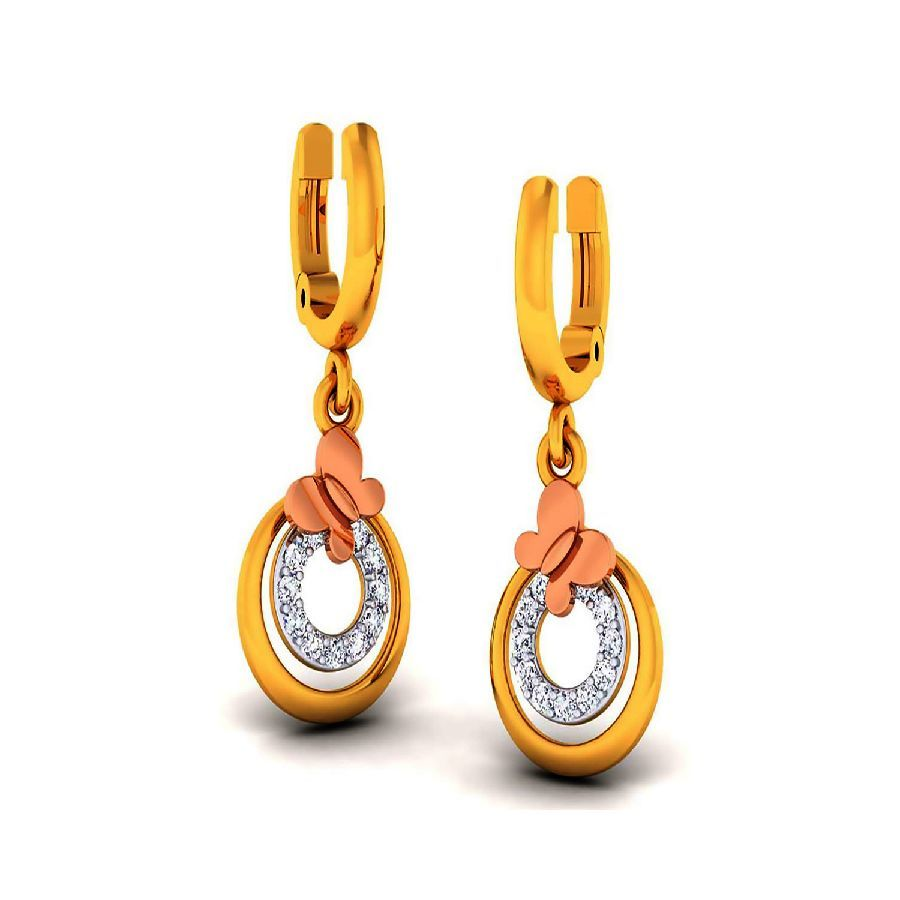 Modern Danglers and Drops in Yellow Gold