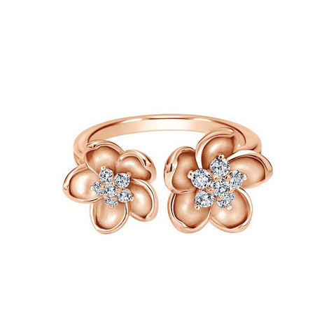 Modish Cocktail Rings in Rose Gold