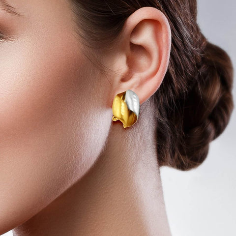 Image of Modish Studs and Tops in Yellow Gold