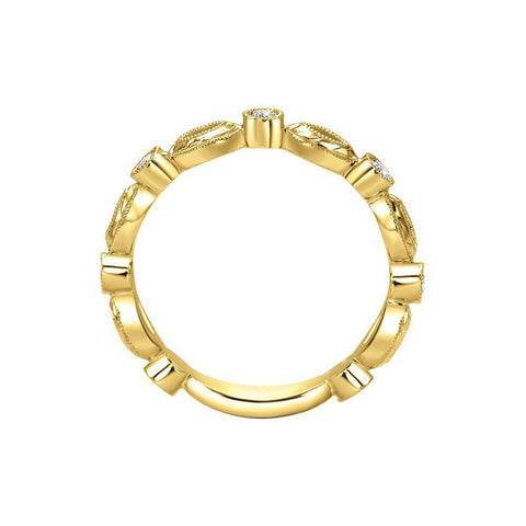 Image of Neo Casual Rings in Yellow Gold