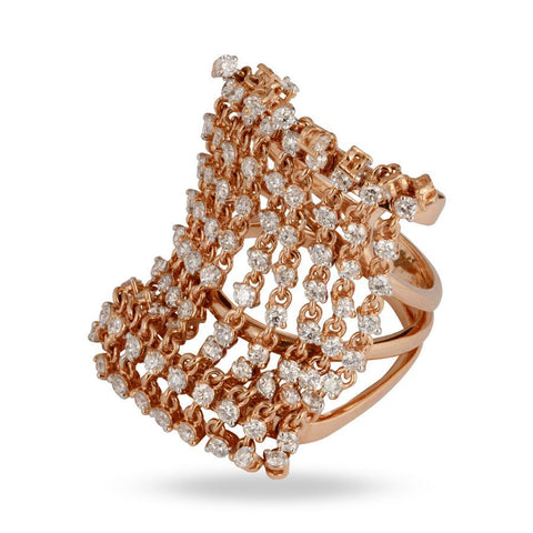 Image of Neo Cocktail Rings in Rose Gold