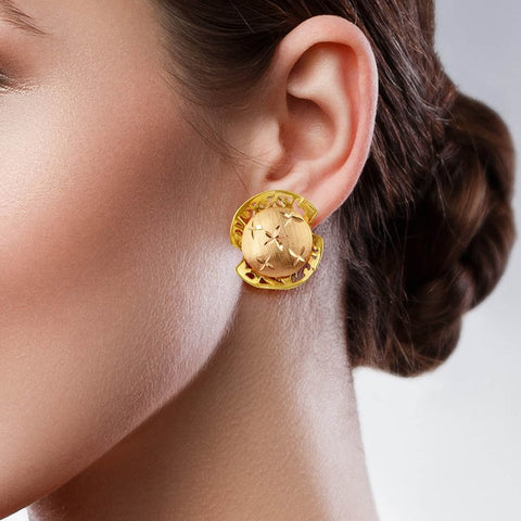 Image of Neo Studs and Tops in Yellow Gold