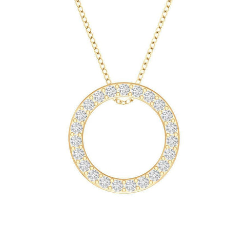 Image of Open Circle Diamond Pendant