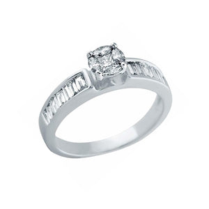 Pressure set Solitaire ring (0.66 ct t.w)