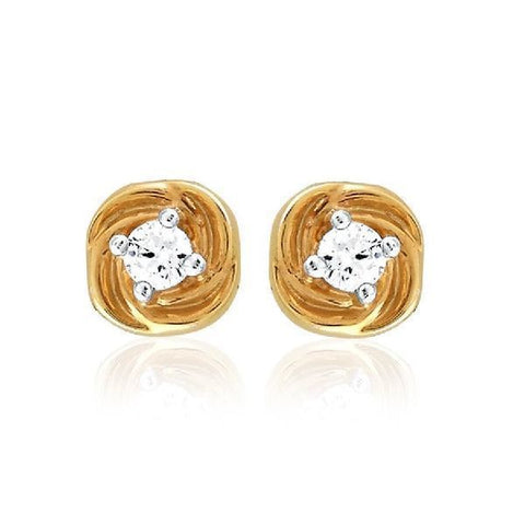Image of Ribbon Cubic Zirconia Studs