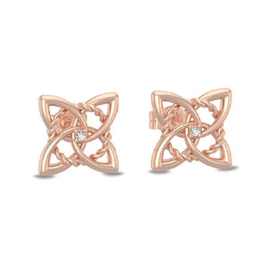 Rose-Twist Quattro Studs