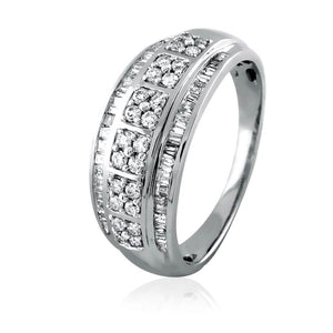 Round-Baguette Eternity Band