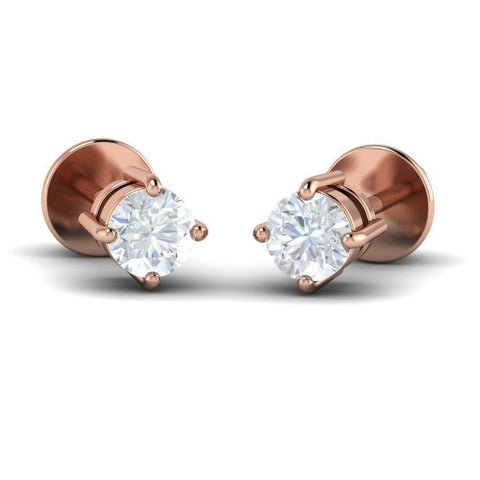 Image of Round Diamond Solitaire Studs (0.1 ct t.w.)