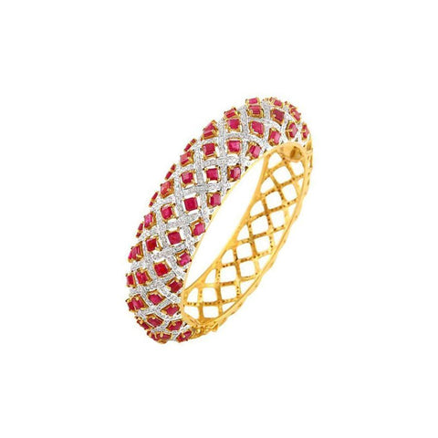 Image of Ruby and Diamond Bridal Bracelet