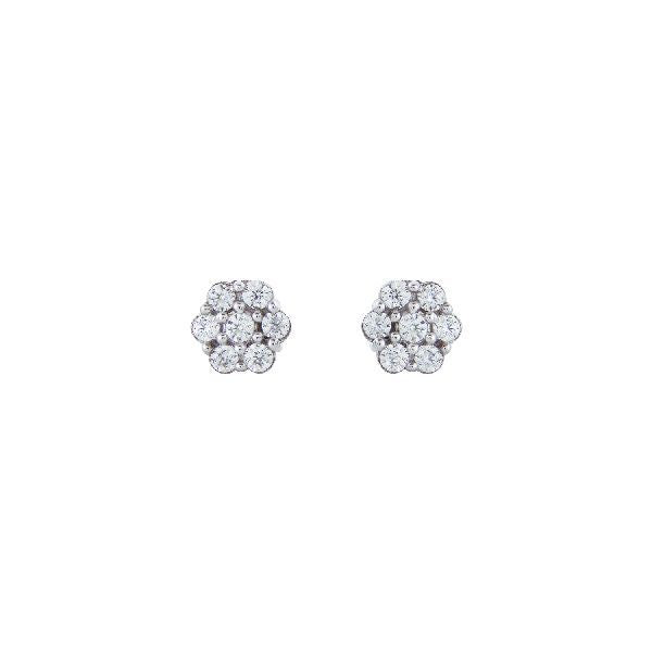 Silver and Cubic Zirconia Classic Studs and Tops