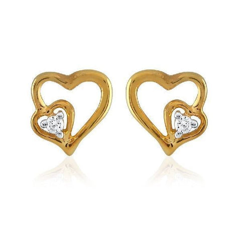 Silver and Cubic zirconia Modish Studs and Tops