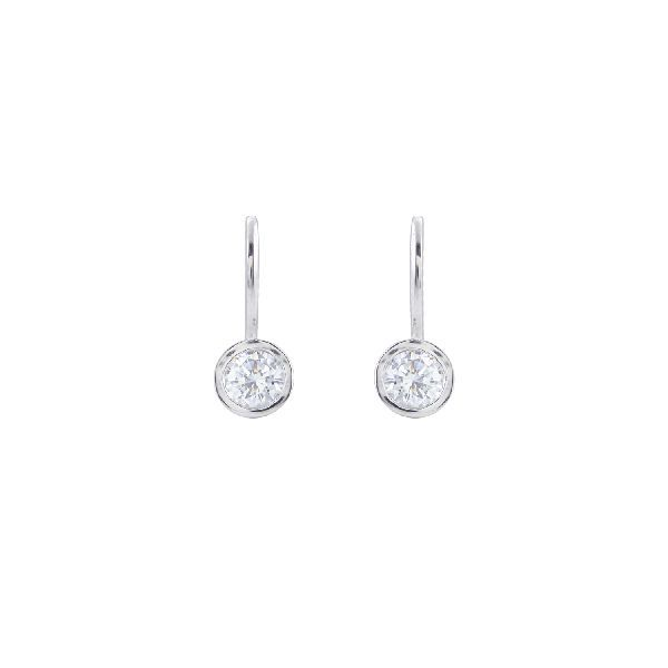 Silver and Cubic Zirconia Traditional Hoops and Balis