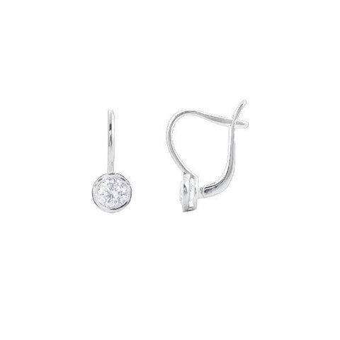 Image of Silver and Cubic Zirconia Traditional Hoops and Balis