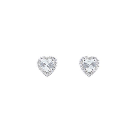 Silver and Cubic Zirconia Traditional Studs and Tops