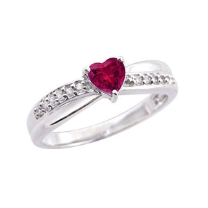 Silver and Ruby Stylish Casual Rings
