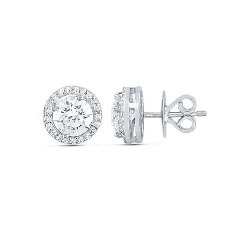 Silver and Swarovski Zirconia Modern Studs and Tops