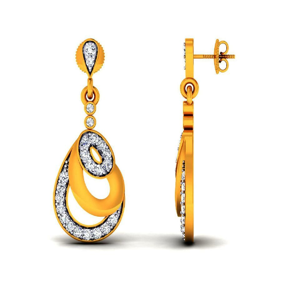 Stylish Danglers and Drops in Yellow Gold
