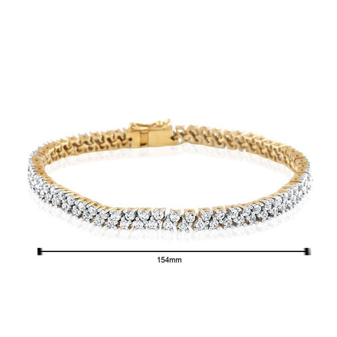 Image of Timeless Double Line Diamond Tennis Bracelet
