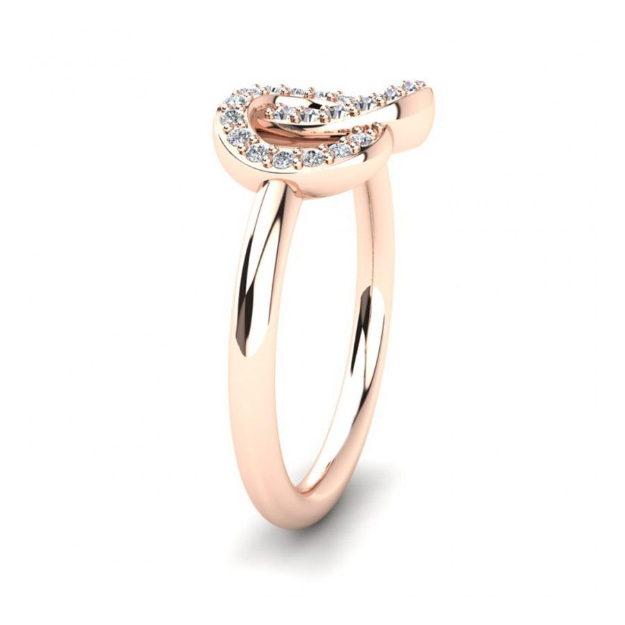 Trendy Casual Rings in Rose Gold