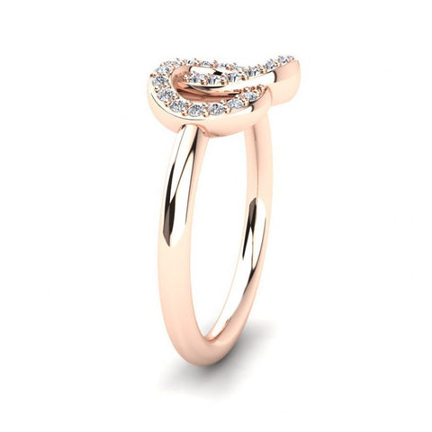 Image of Trendy Casual Rings in Rose Gold
