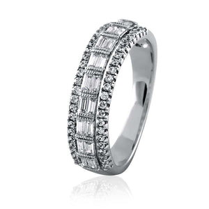 Vintage Channel Set Baguette Diamond Eternity Band