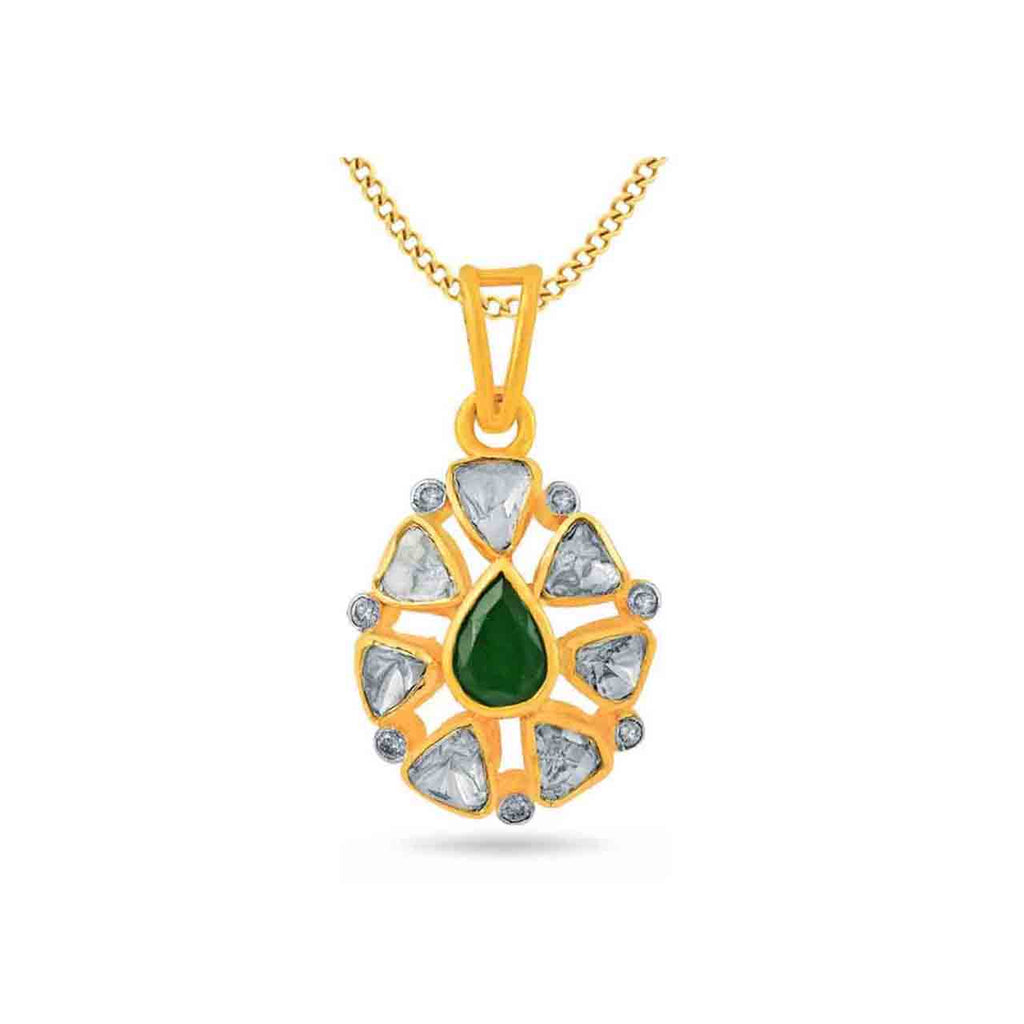 Yellow  Pendants & Necklaces in 9.698 gms