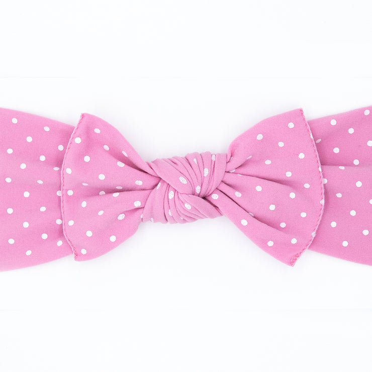 Pink Teeny Dot Pippa Bow