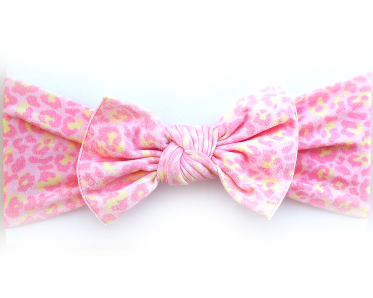 Pink Leopard Pippa Bow
