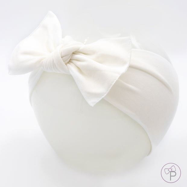 White Pippa Bow