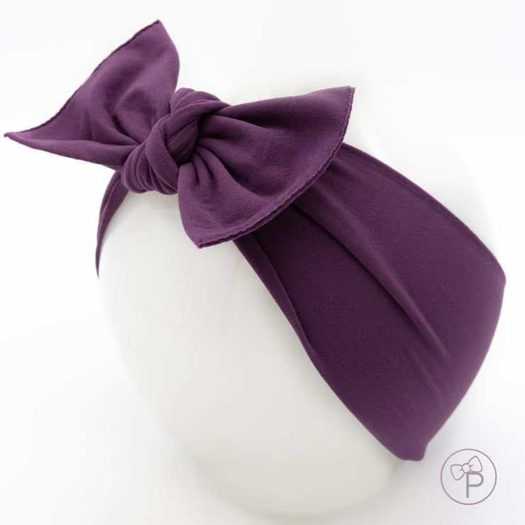 Plum Pippa Bow