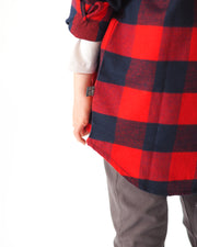 Red & Navy Check Shirt