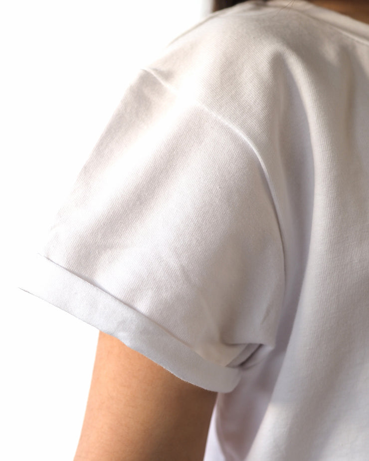 White Capped Sleeve T-shirt