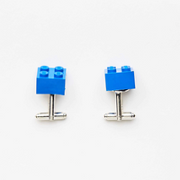blue bricks cuff links