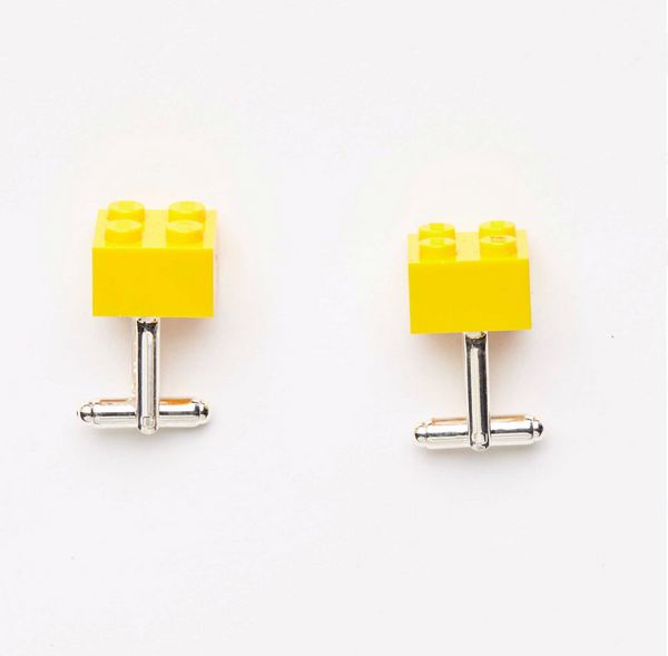 yellow bricks  cufflinks
